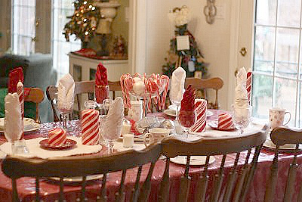 Candy Cane Table Theme Cute Kids Tablescape