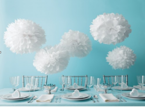 Martha pom poms 500x374 Creative party decorations on a budget