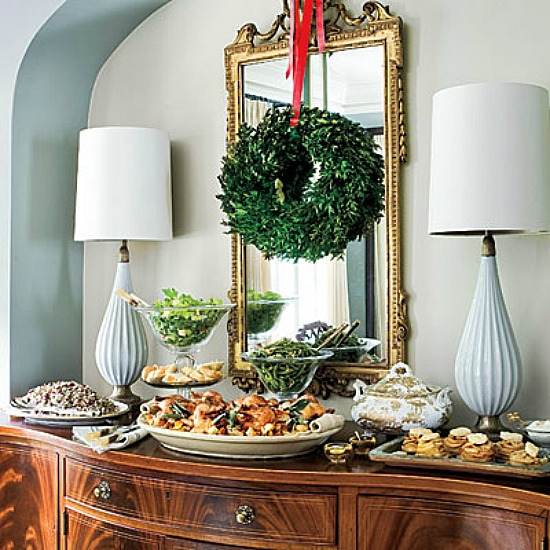 Accessorizing A Mirror: Hanging Wreaths Over Mirror