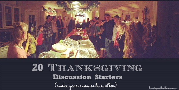 Family Discussion Starters for Thanksgiving