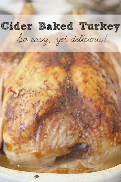 Does making a turkey seem daunting? This is the PERFECT recipe for you. SO easy yet perfect to use with turkey breast or whole turkey.