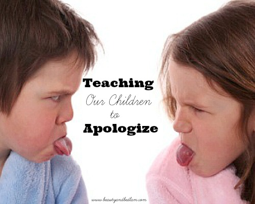 Teaching Our Children to Apologize