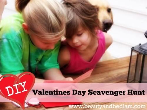 Valentines treasure hunt of love