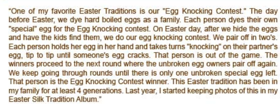 Egg Knocking Contest: Easter Traditions for Children