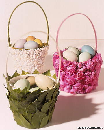 flower covered basket