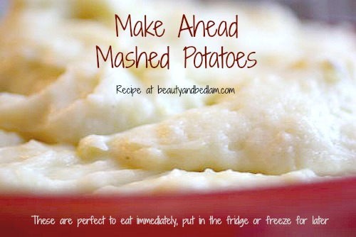 This is the BEST IN COMFORT FOODS!! Make Ahead Gourmet Mashed Potatoes!!
