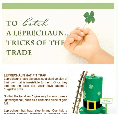 st patricks day trap
