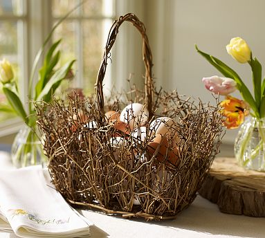 Diy easter basket ideas easter basket crafts easter basket gift twig easter basket negle Image collections
