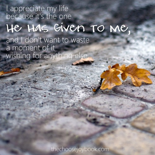 This day is the one He's given me