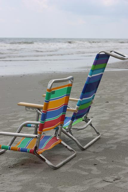 beach chairs from Goodwill