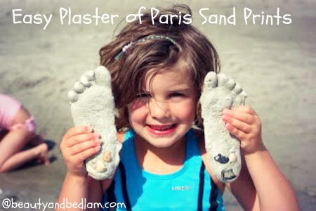 Easy Beach Crafts – Plaster of Paris Sand Prints