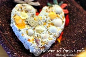 plaster of paris heart stone