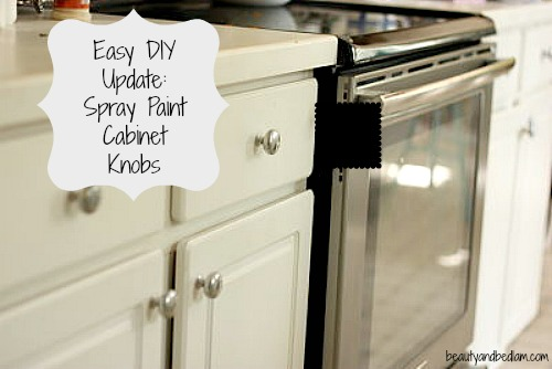 """Spray Painting Cabinet Knobs: """"Good """"enough"""" Things"""