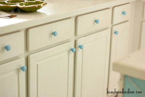 Spray Paint Kitchen Cabinet Hardware