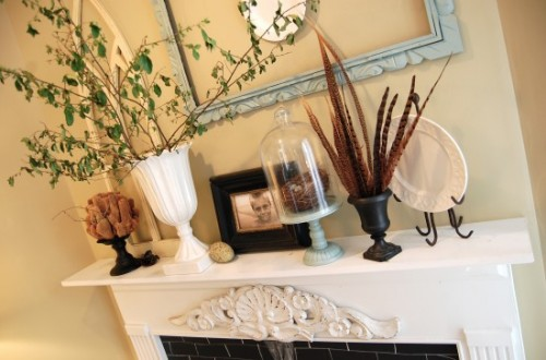 decorating mantle with nature