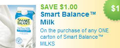 Smart Balance Milk coupons