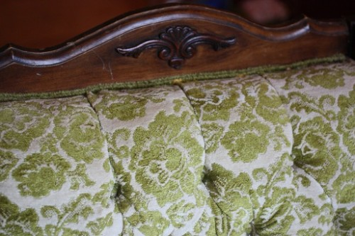 slip cover for antique chair