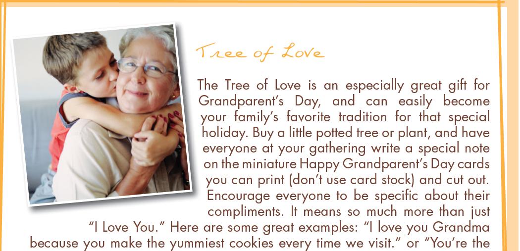 Honor Grandparents this Sunday