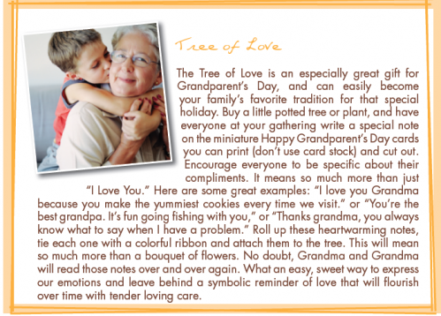 tree of love grandparents day