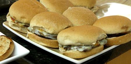 Portebella Mushroom Pizza Sandwiches