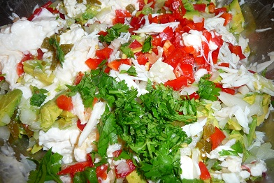 crabmeat salad with tostadas