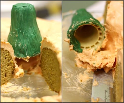 pumpkin stem using cone