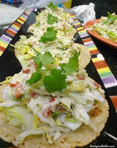 Crab Salad on Tostadas
