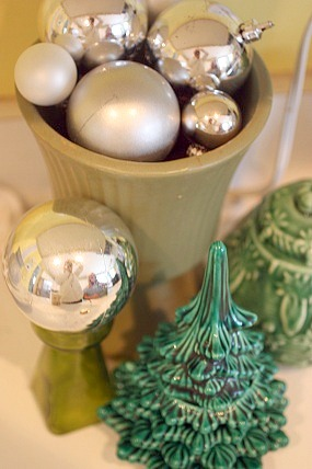 Christmas holiday vase