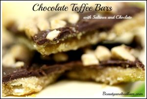Chocolate Toffee Bars (with Saltines and Chocolate)