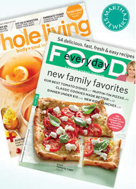 martha stewart s whole living and everyday foods for only 0 50