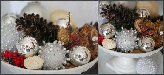 pinecones in bowl
