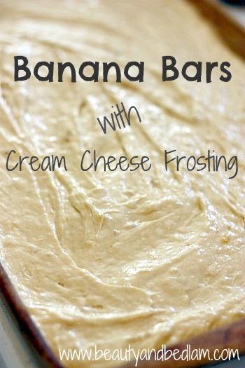 Yummy Banana Bar Recipe Jen Schmidt