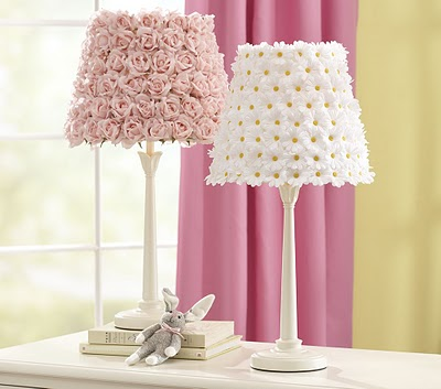 Diy Pottery Barn Flower Lamp Shades Balancing Beauty And Bedlam