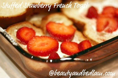 baked strawberry french toast1 Stuffed French Toast Casserole with Fruit