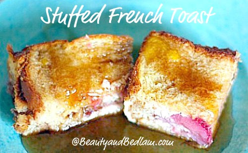 SO YUMMY!! Stuffed french toast casserole - Strawberries and cream. It doesn't get better than that!