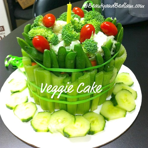 Cake for veggie lovers1 Veggie Cake (Great Twist on the Typical Veggie Platter)