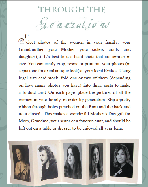 Through the Generations – Homemade Mother's Day Gift Idea