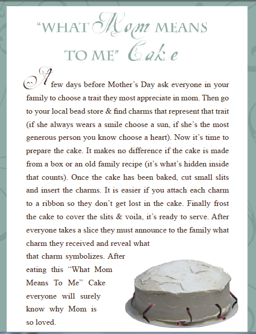 Unique Mother's Day Ideas: Mother's Day Cake