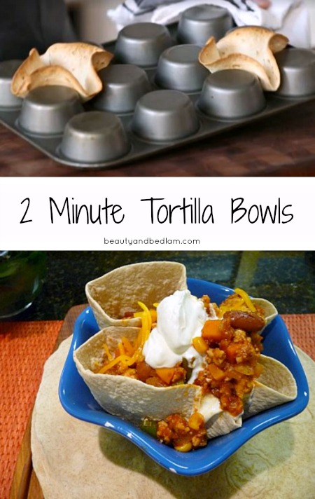 How to make a baked Tortilla Bowl in minutes