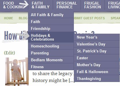 new drop down menu Last Minute Mothers Day Ideas & Free Mothers Day Coupon Book