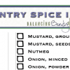 Enjoy and Organize Your Spices (Free Printable)