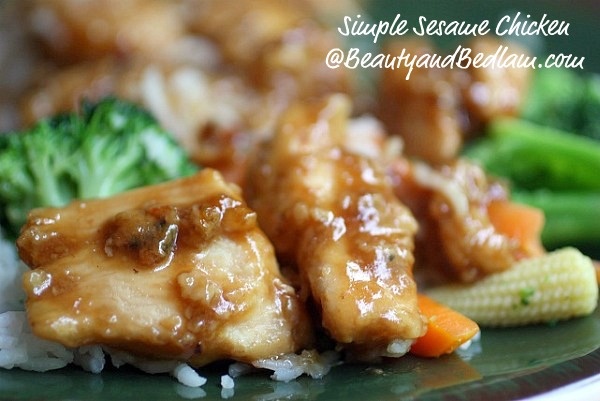Bring the Restaurant Quality home with this unbelievably simple and AMAZING Sesame Chicken.