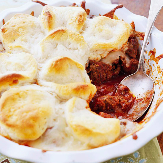 Pizza Casserole with Biscuits (Ten Minute Dinners)