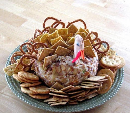 Best Cheeseball for Thanksgiving 500x435 Thanksgiving Turkey Cake (Fun for Kids)