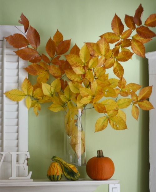 Easy, One Minute Thanksgiving Decorations