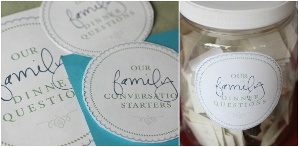 Conversation Starter Questions Free Gift Our Family Dinner Questions Jen Schmidt
