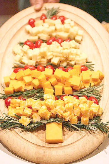 cheese platter Christmas tree - Balancing Beauty and Bedlam