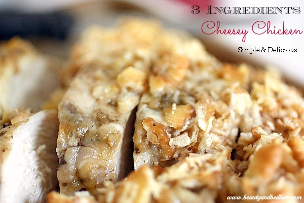 How can this be so good with only 3 Ingredient? Yummy Cheesey Chicken - such a quick meal idea!