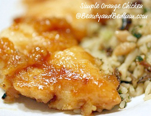 Low Fat Orange Chicken Recipe (in less than 10 Minutes)