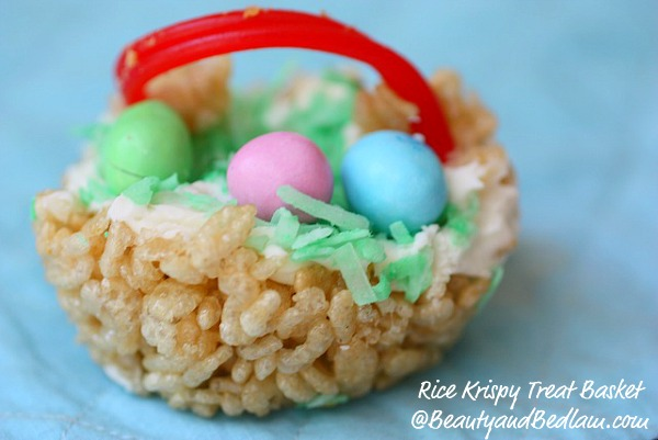 Rice Krispie Treat Easter Basket